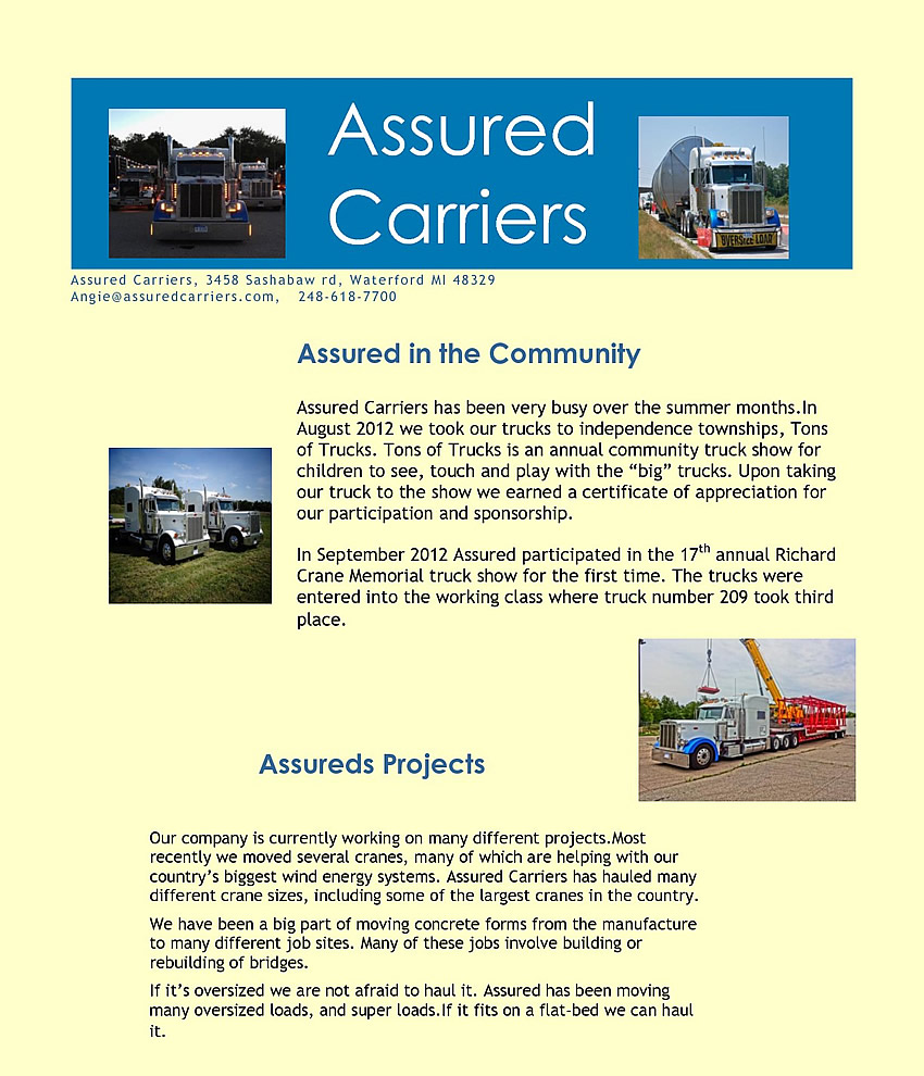 assured newsletter 1